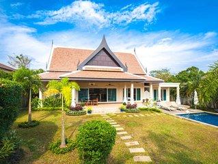 Nok Sawan - belle villa de 3 chambres grand jardin piscine privee vue montagne