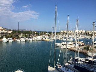 Appartement 10 personnes avec vue mer sur le Golf de St Tropez