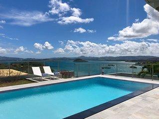 Villa luxueuse 8 personnes, piscine + vue mer des Caraïbes = SUPER VACANCES