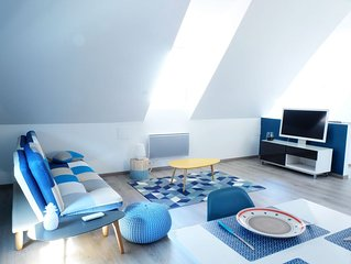 Gite Ottrott : appartement 'bleu' moderne