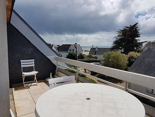 Appartement situé plein sud face à la mer avec large terrasse
