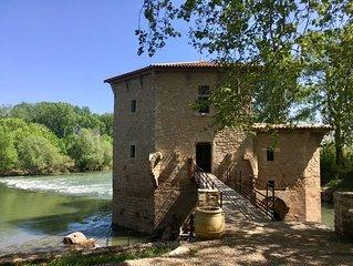 Moulin de Pezenas les pieds dans l'eau