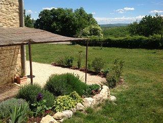 Maison indépendante au coeur du Luberon à Castellet, Calme, Belle vue, Gd jardin