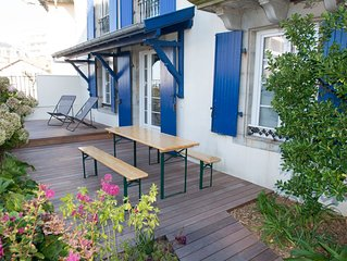Biarritz, Walk to the beach !  Cute cottage above Côte des Basques