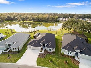 Get The Best ! Beautiful and New Designer Home on a serene pond
