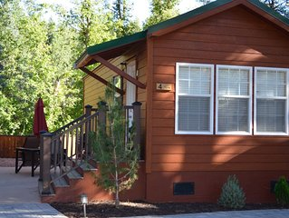 A one bedroom, one bathroom cabin overlooking Christopher Creek.