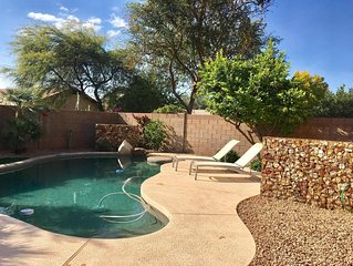 3 Bedroom home, w/private heated pool - walk to Desert Ridge, newly remodeled.