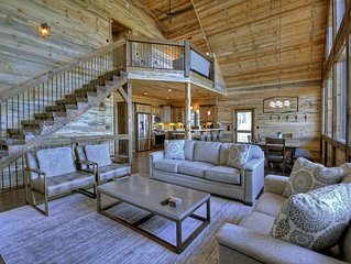 Little Creek Overlook- Brand New Rustic Luxury in Blue Ridge!  Sleeps 10+