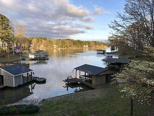 Relaxing Lake Gaston Getaway (two separate living spaces; sleeps 9)