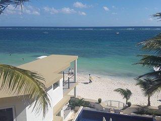 Casa Toucan 4 - Beautiful Beachfront near the Town Square of Puerto Morelos