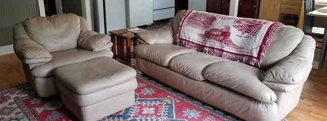 Canapé en cuir / canapé lit double