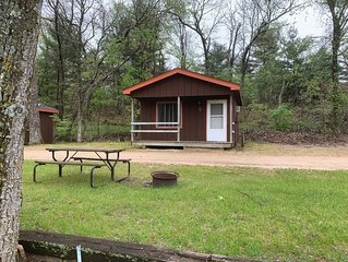 4 Person one bedroom rental cabin on campground