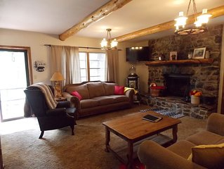 Updated mountain side two story cabin! Minutes from town, perfect for families!