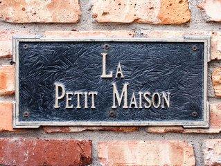 La Petit Maison, is a waterfront two-story cottage near Kemah,TX