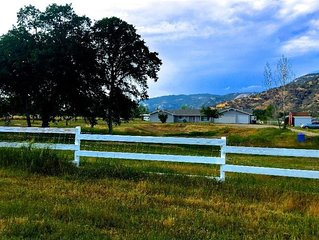 Spacious country home on 2.5 acres.  Views of Sierra Nevada Mountains.