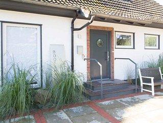 Bootshaus mit Terrasse&Garten, 8 Personen, strandnah, Strandkorb inklusive