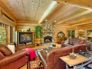Deluxe Log Cabin Style Home Walking Distance to Lake Tahoe (ST60)