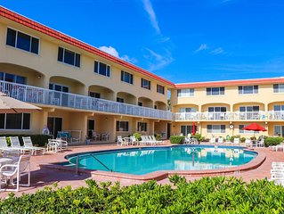 C214 Fabulous location! 2/2 condo on the beach, just steps from coveted Flagler