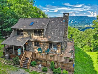 Scenic Solitude ~ Rustic Cabin with hot tub, STUNNING views, pet friendly.