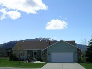 Corner View ~ Spacious, One Level Lazy and Comfortable Red Lodge, MT Home