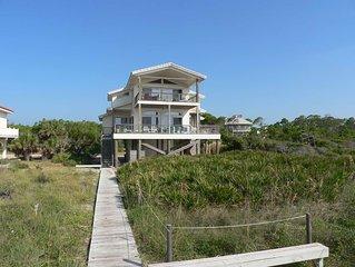 FREE BEACH GEAR! Beachfront, Plantation, Private Boardwalk, Screen Porch, 3BR/3B