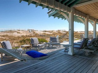 Coastal Beach House: 5 BR / 6.5 BA rental homes in Bald Head Island, Sleeps 15