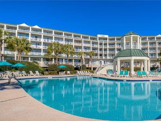 Oceanfront condo with beautiful views and pool access in gated Pawleys Island co