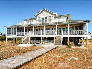 Chirico House: 6 BR / 6.5 BA rental homes in Bald Head Island, Sleeps 15