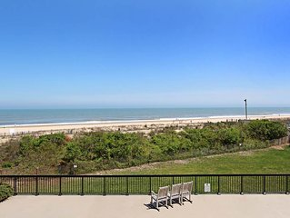 G205: 2BR+den Sea Colony oceanfront condo | Private beach, pools, tennis ...