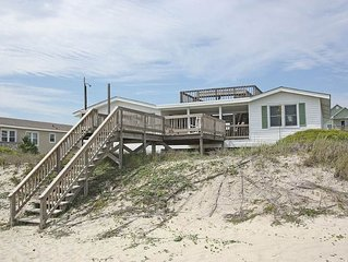 Double Exposure: 4 BR / 3 BA home in Oak Island, Sleeps 12
