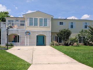 Beautiful waterfront beach home w/ pool, ping pong, foosball, dock & canoe!