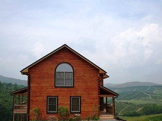 River Mountain Cabin - Close to Boone, Serene Views, with Hot Tub