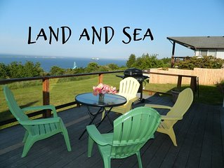 Land and Sea, Adorable Cottage with Sweeping Water Views, Professionally Cleaned