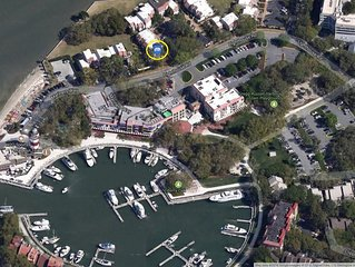 2 Bedroom Harbour Town Villa with AMAZING view of the Calibogue Sound
