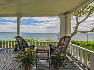 Breathtaking Oceanfront Historic 'House by the Sea'  Rare