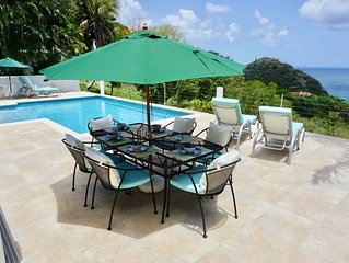 Luxury Villa with private pool and one of the best sea views in the Caribbean