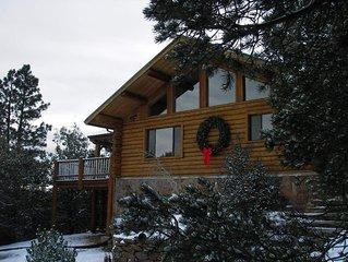 Spa Style Log Home Retreat at Sandia Mountain
