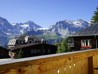 Glorious Luxury Summer holiday home or ski Chalet in Murren  - 5 star rating
