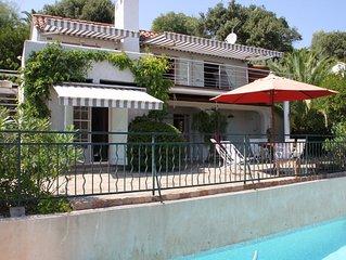 Charmante Villa avec Piscine 400 m de la plage, vue mer et campagne