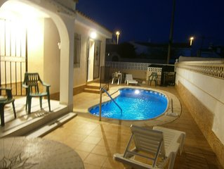 Private detached villa with pool five minute walk to the beautiful beach