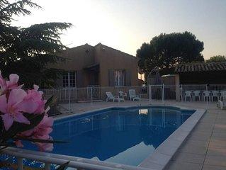 Maison climatisee avec piscine au pied du mont Ventoux