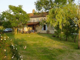 Secluded stone farmhouse in beautiful countryside with private 12x6m pool