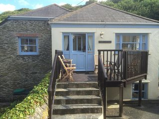 Large Traditional Cornish Stone Cottage In Portloe Village