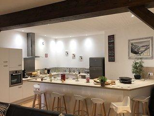 Cauterêts Grand Appart 130M² au RDC 4Ch + salle de jeu, cuisine américaine salon