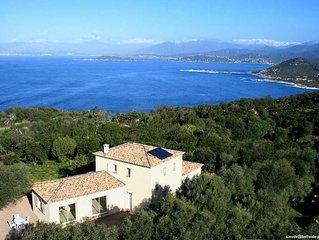 La Castagna: Villa avec jardin, 2 Pièces, vue imprenable. Corse du Sud,  Golfe d