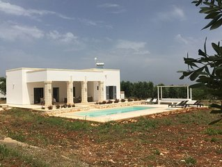 Stunning Three cone Trullo and Contemporary Villa with private saltwater  pool