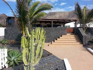 Modern and spacious villa in Famara with private pool and great sea views