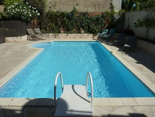 Lovely house, garden with pool in tranquil village near coast and countryside