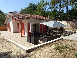 villa familiale  avec jardin à la pointe du cap ferret