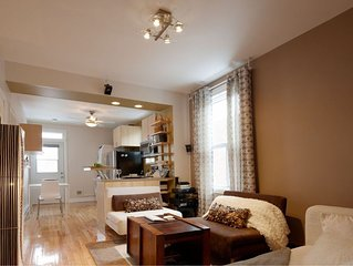 Montreal: superbe appartement meuble tout confort - stylish  and cosy unit